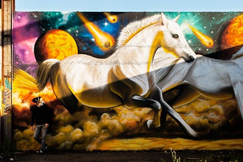 graffiti cavalos @miudo.arte