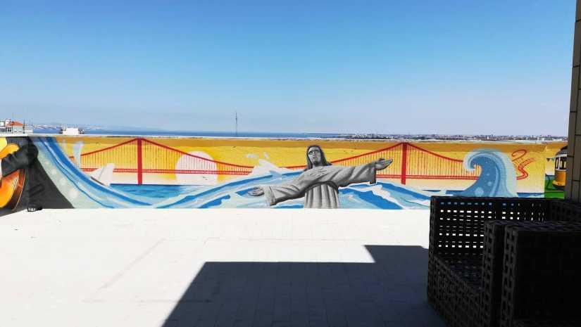 graffiti Cristo rei ponte @miudo.arte
