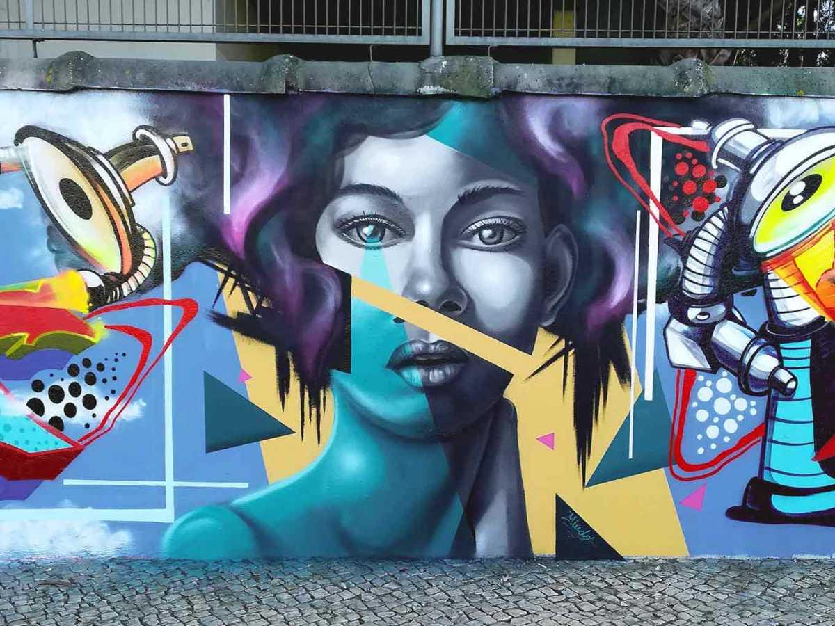 graffiti retrato abstrato @miudo.arte
