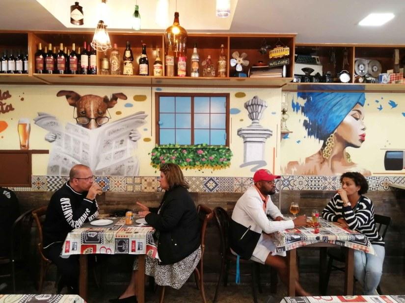 Graffiti em restaurante @miudo.arte